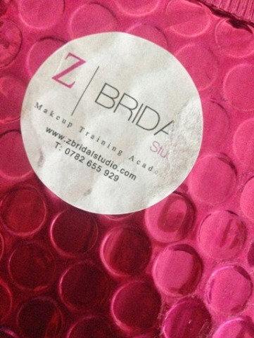 Eyelash Delivery from Z Bridal Studio